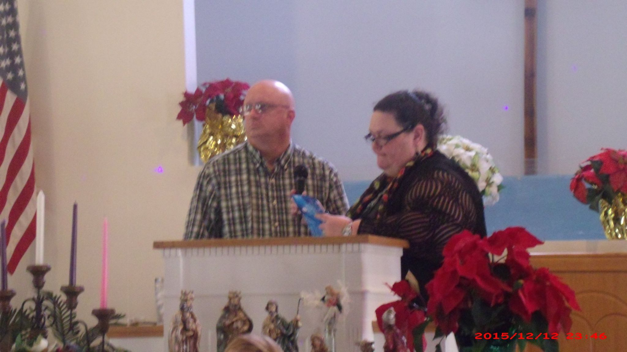 danny and michelle at church
